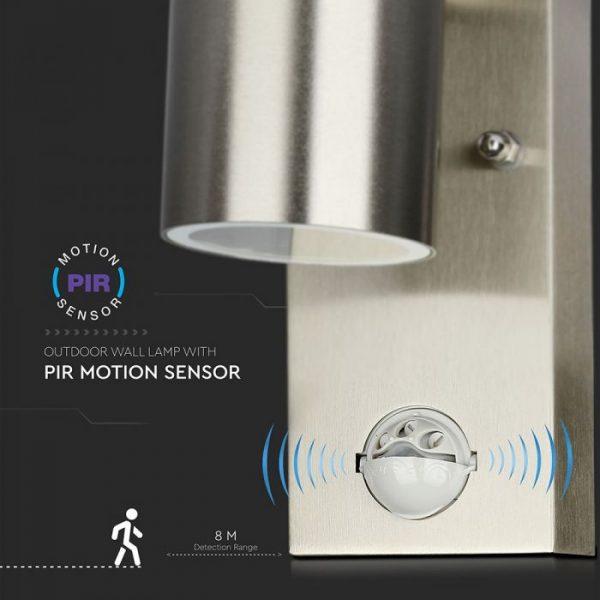 PIR GU10 WALL FITTING WITH SENSOR detection distance