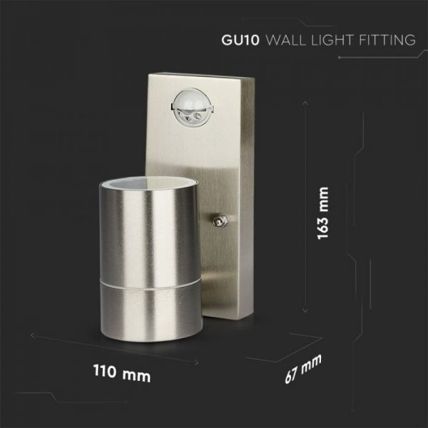 Wall Light with PIR Sensor size