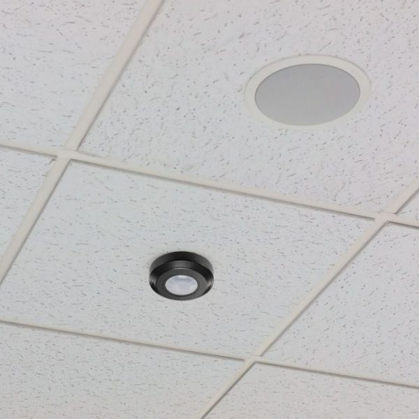 PIR Ceiling Sensor Flat Black 360 degree