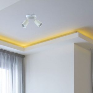 2*GU10 Ceiling/Wall Fitting White