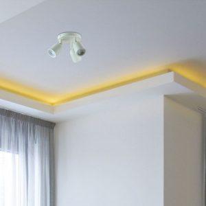 3*GU10 Ceiling/Wall Fitting White Body