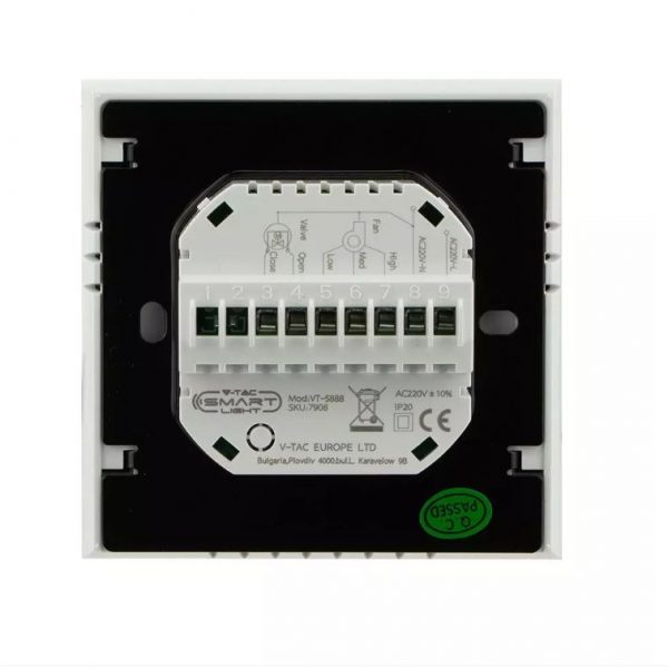 2-pipe coil room thermostat