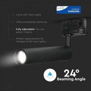 15W LED COB 4 Line Tracklight High CRI