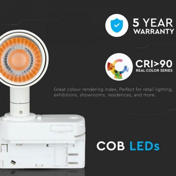 20W LED COB 4 Line Tracklight High CRI