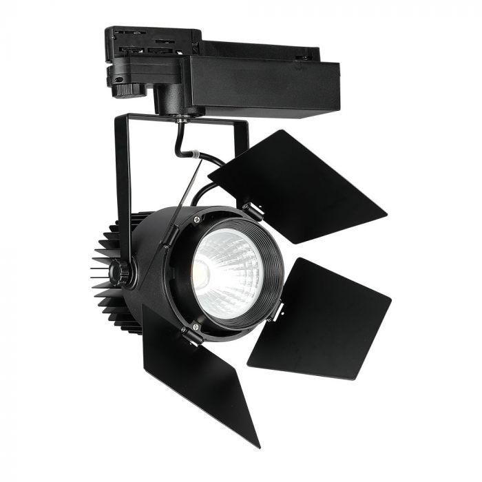 33W LED COB 4 Line Shutter Tracklight High CRI