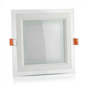 6W LED Slim Glass Recessed Panel with Driver - Square - 100mm
