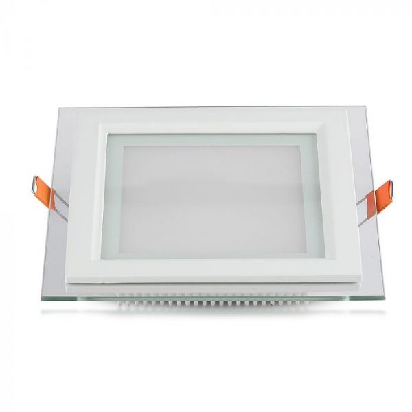 18W LED Glass Recessed Panel- SQ 198mm