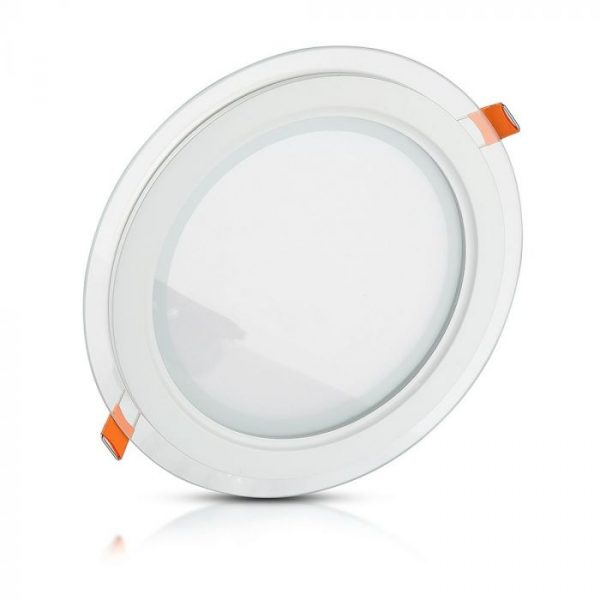 18W LED Slim Glass Recessed Panel with Driver - Round - 198mm