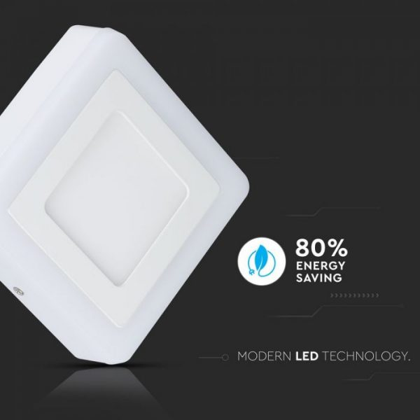 8W LED Surface Twin Panel - Square
