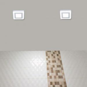 Square Twin Panel White