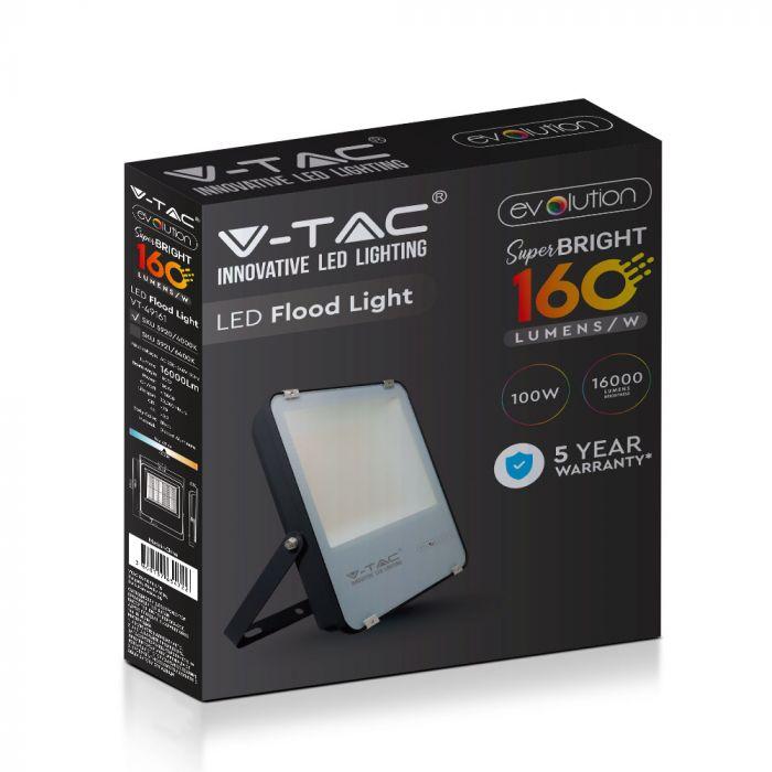 160 Lm/W Commercial Floodlight, 16000 lumens floodlight, V-Tac VT-49161