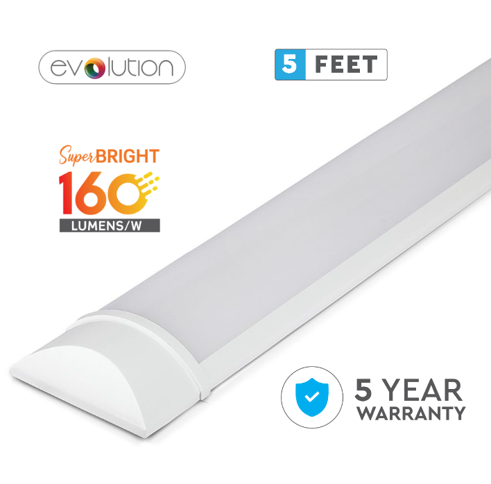 38W LED Evolution Series 5ft/150cm Grill Fitting - Quick Connector - 160 Lm/Watt - 5 Years Warranty