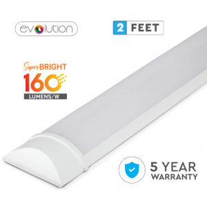 15W LED Evolution Series 2ft / 60cm Grill Fitting - Quick Connector - 160 Lm/Watt - 5 Years Warranty