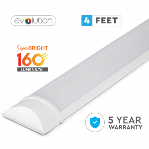 30W LED Slim Batten Grill Fitting 4ft/120cm 160 Lm/Watt Evolution Series
