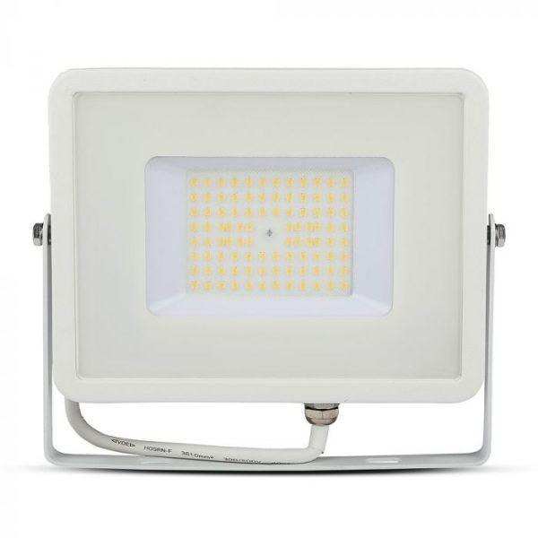 50 LED Floodlight Slimline - High Lumen - SAMSUNG CHIP - IP65 - White Body - 4000K (day white)