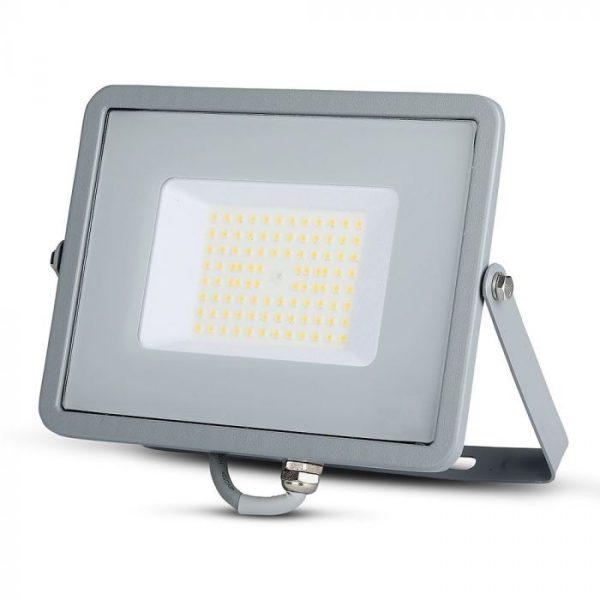 50 LED Floodlight Slimline - High Lumen - SAMSUNG CHIP - IP65 - Grey Body - 6400K (white)