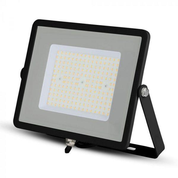 100W LED Floodlight Slimline High Lumen - SAMSUNG CHIP - IP65 - Black Body - 4000K (day white)