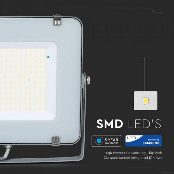 200W LED Floodlight Slimline, 24000 Lumens (120 Lm/W), 100 degree Beam Angle, SMD Samsung Chip, 5 Years Warranty, IP65