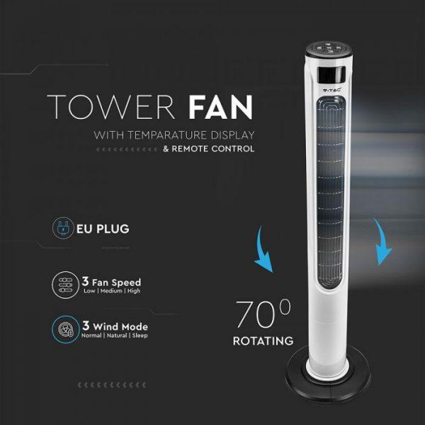 Remote Control Oscillating Fan