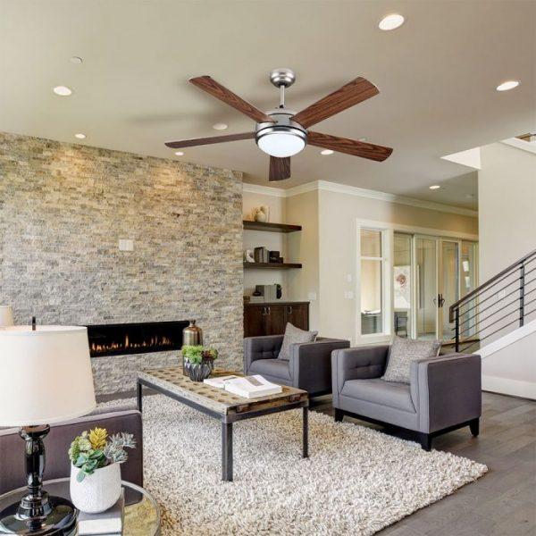 wooden blade ceiling fan