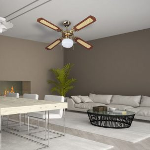 1-light decorative ceiling fan