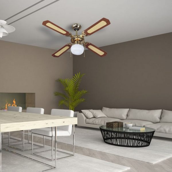 1-light decorative ceiling fan