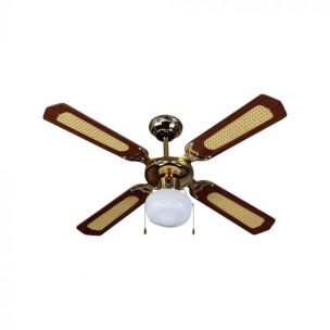 50W 5 Speed Ceiling Fan with Light Pull Chain - AC Motor - Remote Control