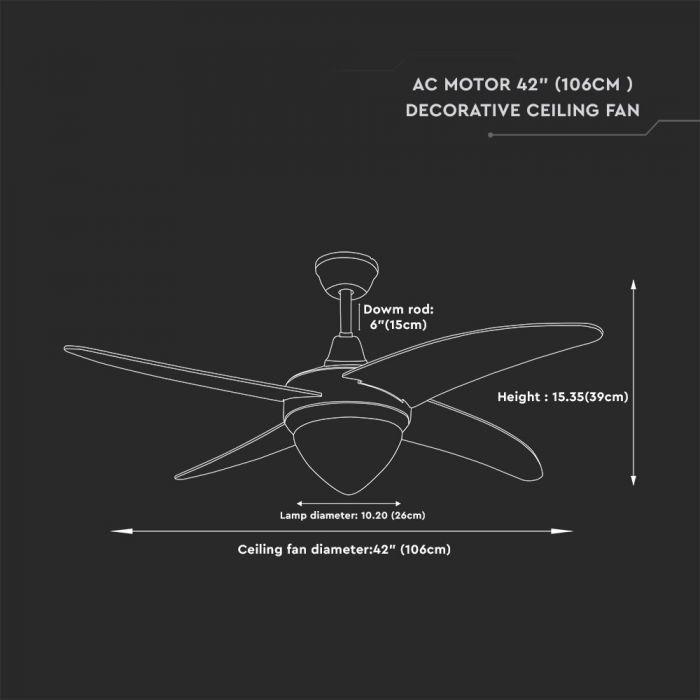 42-inch MDF ceiling fan