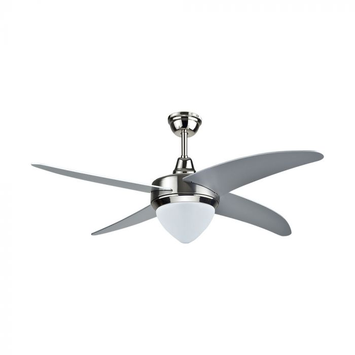 60W 3 Speed Ceiling Fan with Remote Control - 4 MDF Blades - Grey