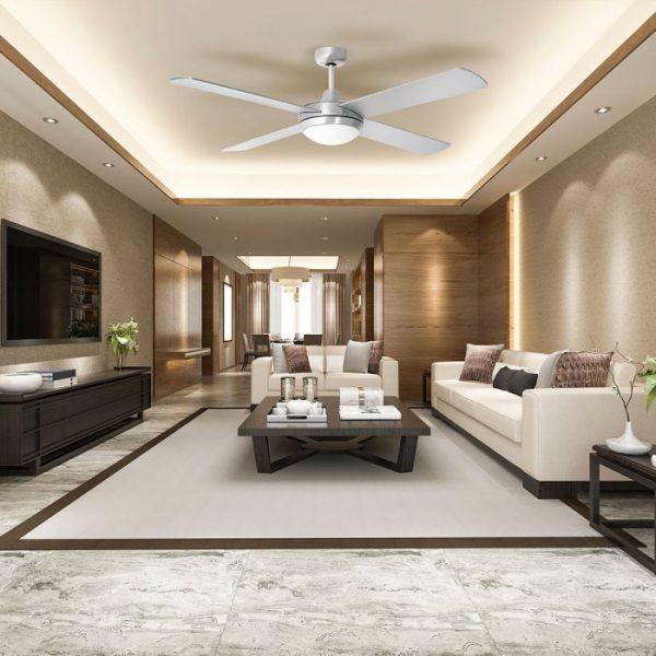 MDF Silver ceiling fan