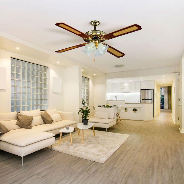 4-light decorative ceiling fan
