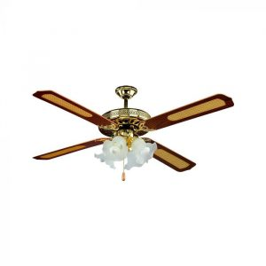 1 Light Decorative Ceiling Fan With Pull Chain Smart Lighting Industries