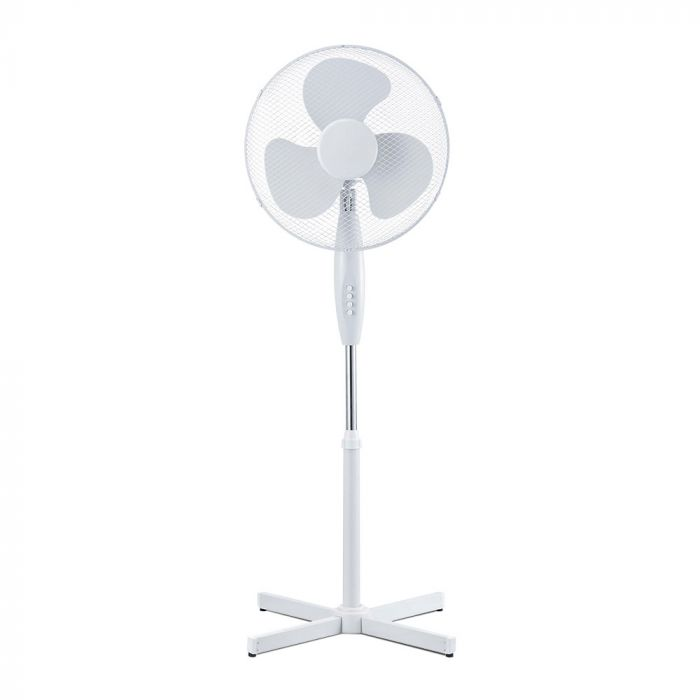 40W 3 Speed Stand Fan - Cross Base White - Adjustable Height