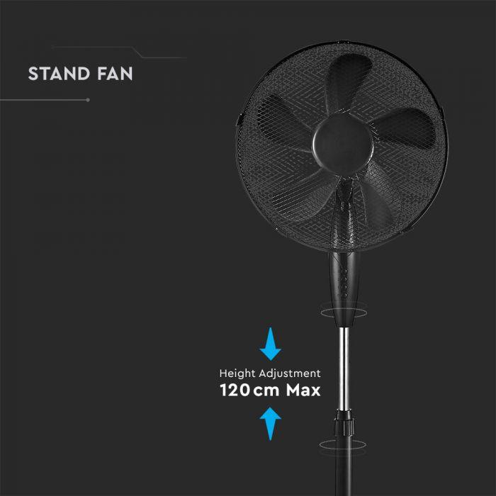 120cm stand fan adjustable