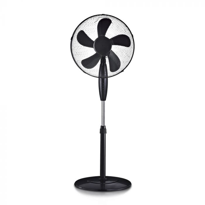 55W 3 Speed Stand Fan - Round Base Black - Adjustable Height