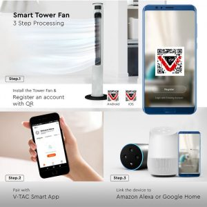 Voice Controlled Tower Fan