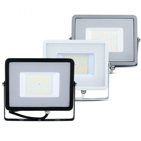 50W LED Floodlight Slimline, 6000 Lumens (120 Lm/W), 100 degree Beam Angle, SMD Samsung Chip, 5 Years Warranty, IP65