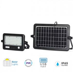 solar pir floodlight, SKU: 8674