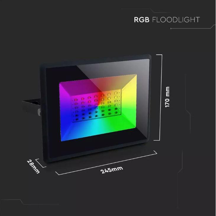 50W RGB Floodlight, V-Tac VT-4932