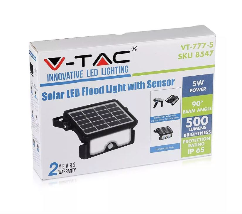 5W solar powered floodlight, SKU: 8547
