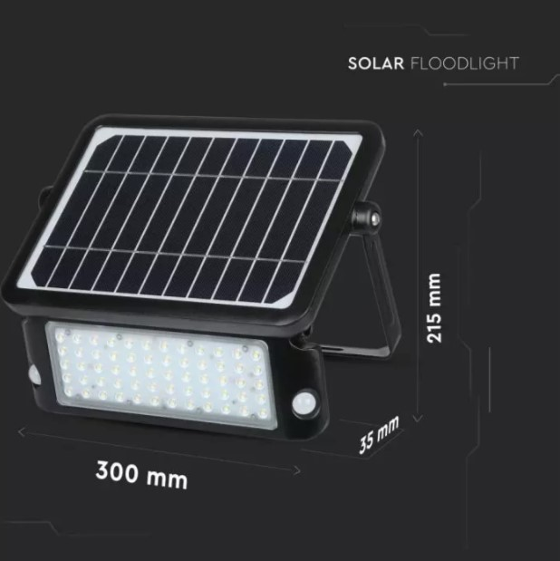10W solar powered floodlights