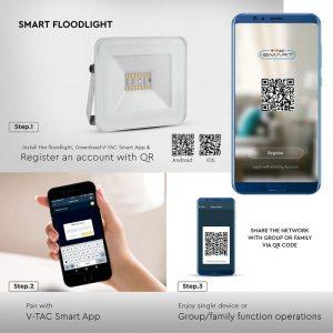 Smart Floodlight, dimmable floodlight, wireless control floodlight