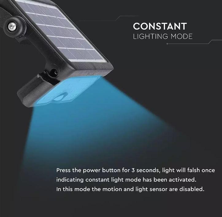 5W Solar Floodlight with PIR Sensor VT-777-5 SKU:8547