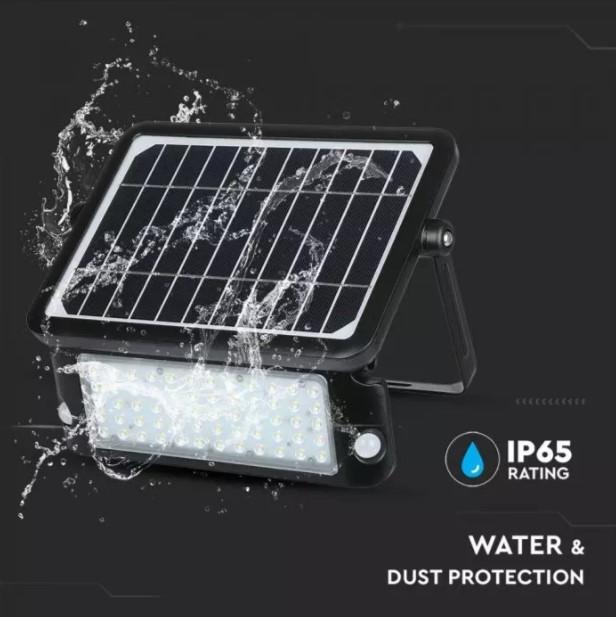 10W Solar Floodlight with PIR Sensor VT-787-10 SKU:8550