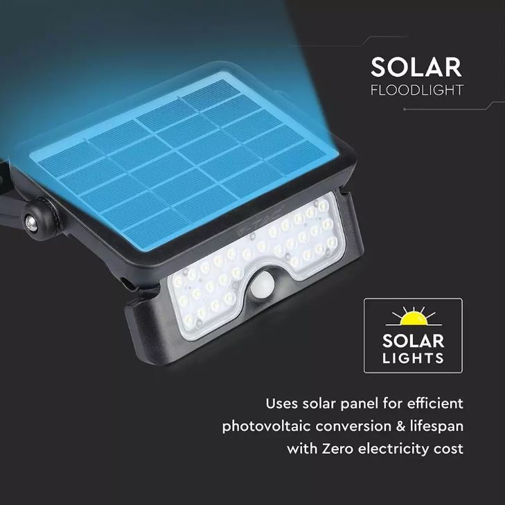 5W solar powered floodlight