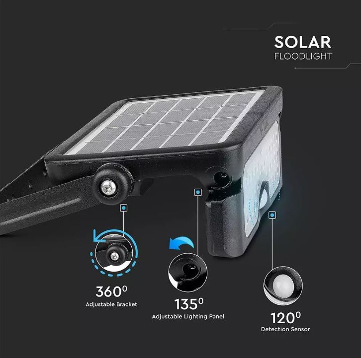 solar pir flood lights
