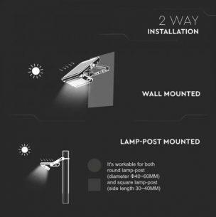 solar PIR floodlights