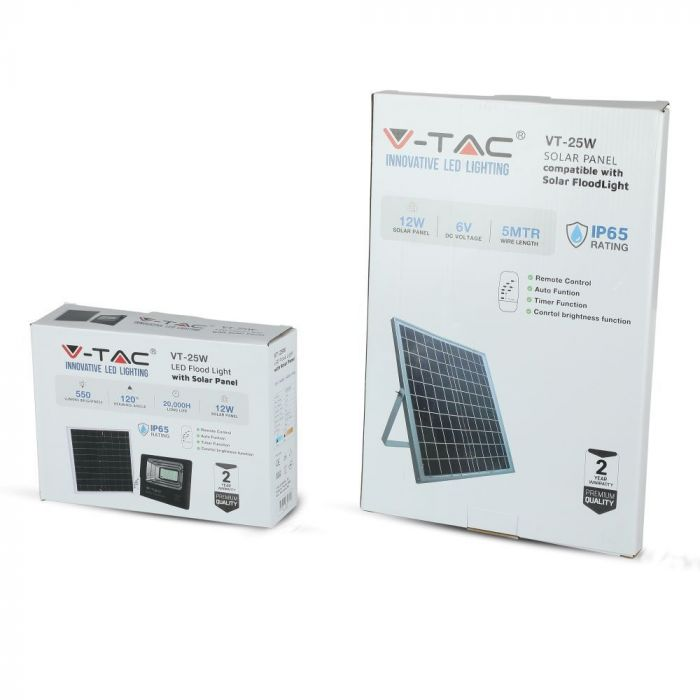 12W solar panel floodlight