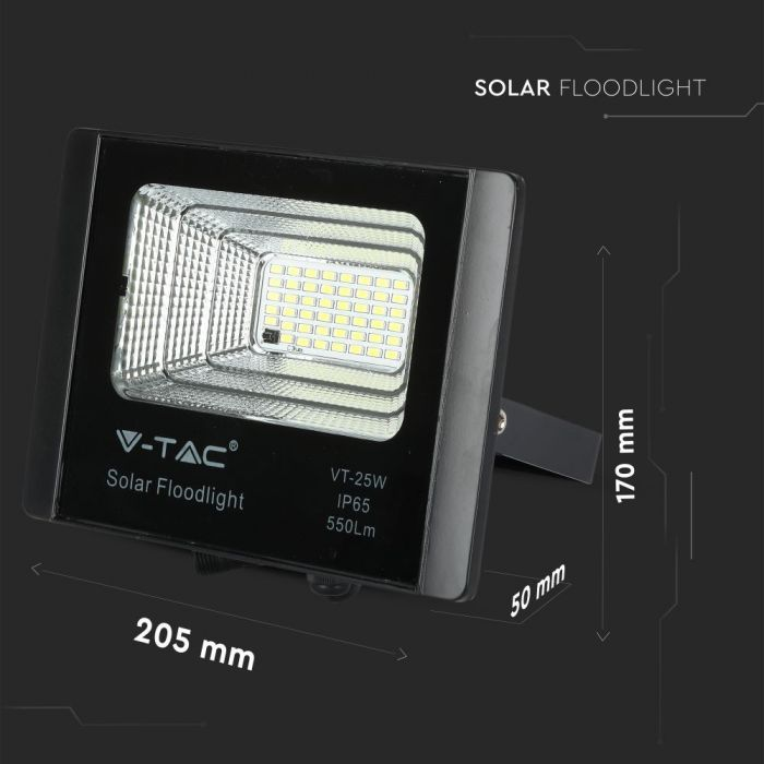 12W solar powered floodlight