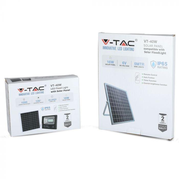 16W solar panel floodlight , V-Tac VT-40W